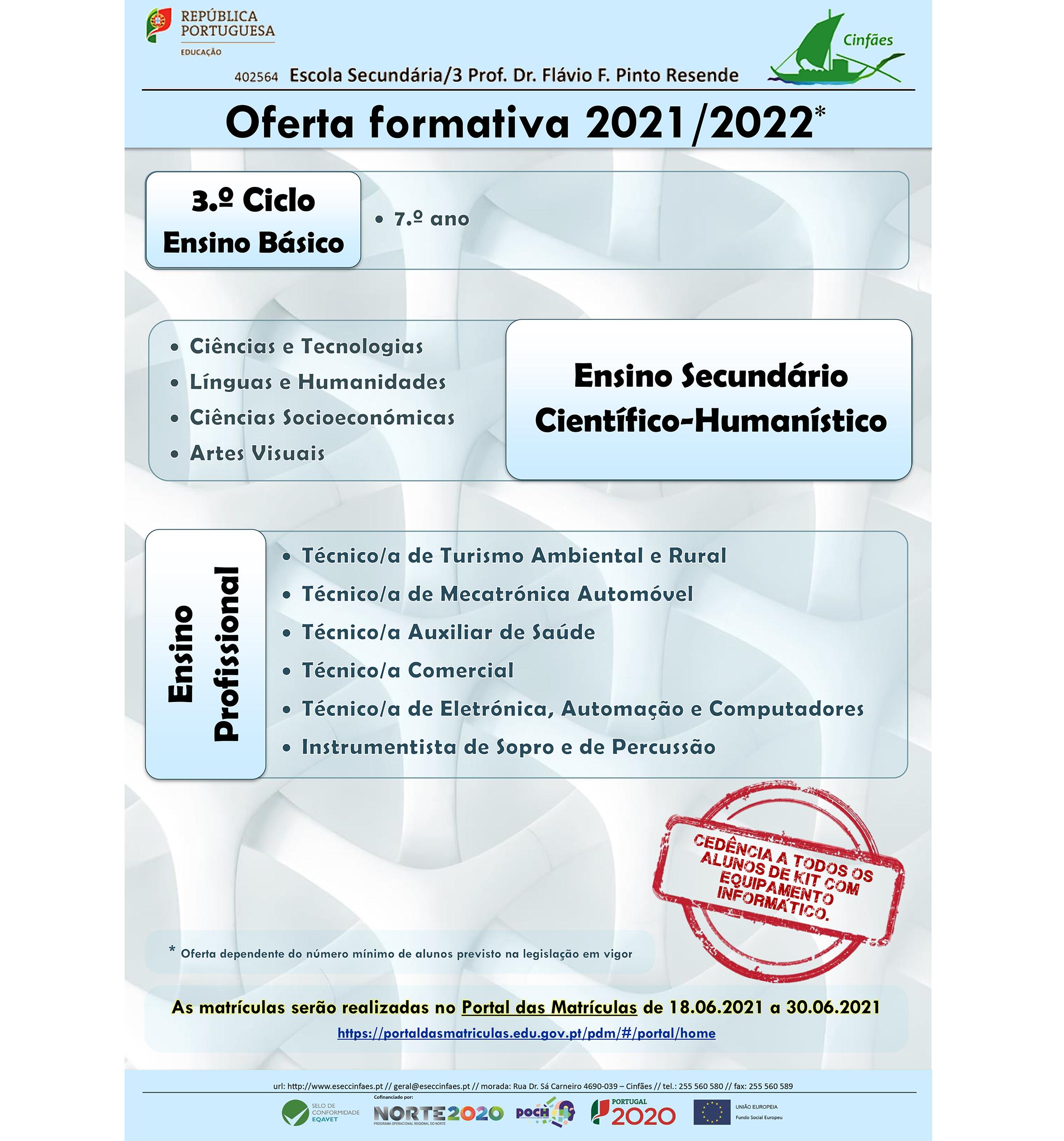 Oferta Formativa 2021/2022